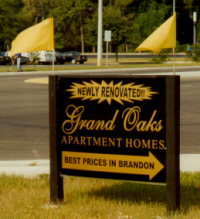 Grand Oak Property Sign