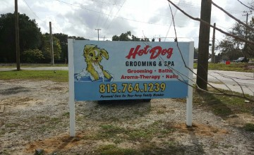 hot-dog-grooming-sign